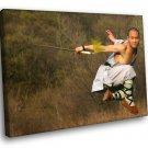 Monk Shaolin Sword Martial Arts 50x40 Framed Canvas Art Print
