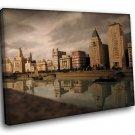 China Old Shanghai Bund Colonial Buildings 40x30 Framed Canvas Art Print