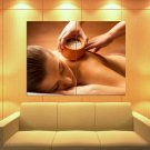 SPA Therapy Stones Relaxation Sea Salt Massage 47x35 Print Poster