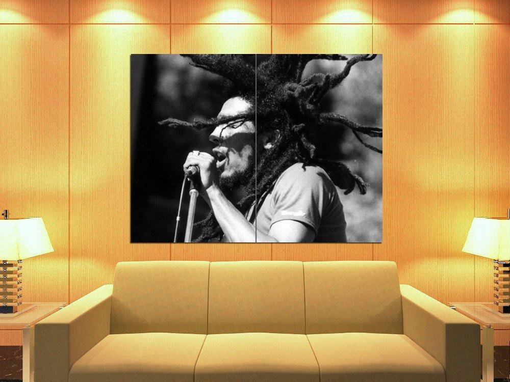 Bob Marley Dreads Reggae Singer Music Bw Huge Giant Print Poster