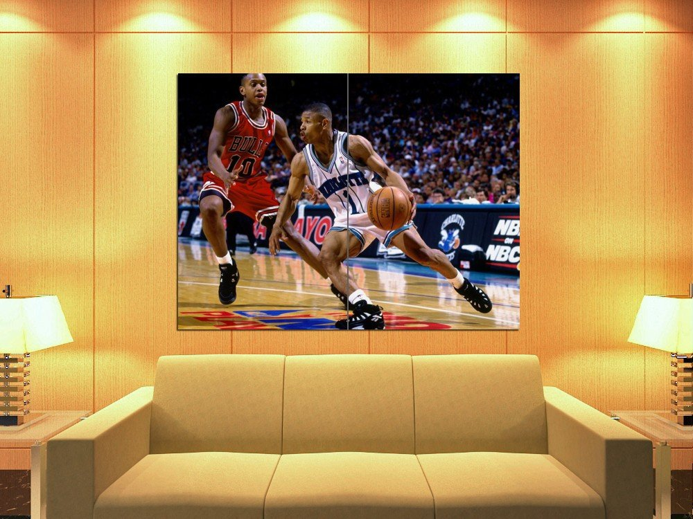 Tyrone Muggsy Bogues Charlotte Hornets Sport Huge Giant Print Poster