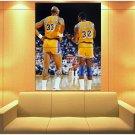Magic Johnson Kareem Abdul Jabbar La Lakers Sport Huge Giant Print Poster