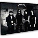 Metallica Retro Young Ulrich Hetfield Hammett 30x20 Framed Canvas Print