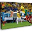 Neymar Jr Amazing World Cup Brazil Football 30x20 Framed Canvas Print
