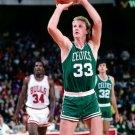 Larry Bird Boston Celtics Free Throw Retro Vintage 32x24 Wall Print POSTER