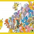 All Pokemon Pikachu Anime Characters Amazing Art 24x18 Wall Print POSTER