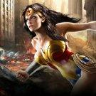 Wonder Woman Superheroine Brunette Comics 24x18 POSTER