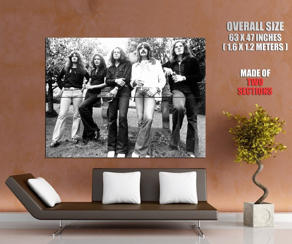 Deep Purple Retro Tommy Ritchie Ian Jon Nick Hard Band GIANT Huge Print Poster