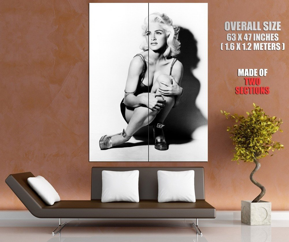 Madonna BW Cleavage Young Beautiful Hot Sexy Rare GIANT Huge Print Poster