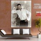 Gerard Butler White Shirt Elegant Handsome Actor Rare GIANT Huge Print Poster