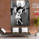 V J Day In Times Square Kiss New York City Old Retro BW GIANT Huge Print Poster