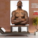J R Smith Tattoos Shirtless New York Knicks GIANT Huge Print Poster