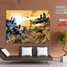 Godzilla Vs Mechagodzilla Awesome Art GIANT Huge Print Poster