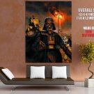 Darth Vader Stormtrooper AT ST Walker Star Wars Movie GIANT Huge Print Poster