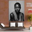 Lupita Nyong O Beautiful Actress BW Portrait GIANT Huge Print Poster