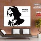 2Pac Portrait Art Smile Tupac Shakur Rapper Hip Hop GIANT Huge Print Poster