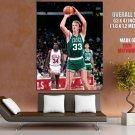 Larry Bird Boston Celtics Free Throw Retro Vintage GIANT Huge Print Poster