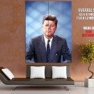 John F Kennedy Color Portrait JFK President Retro USA GIANT Huge Print Poster