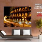Italy Rome Coliseum Amphitheatre Night Lights Giant Huge Wall Print Poster