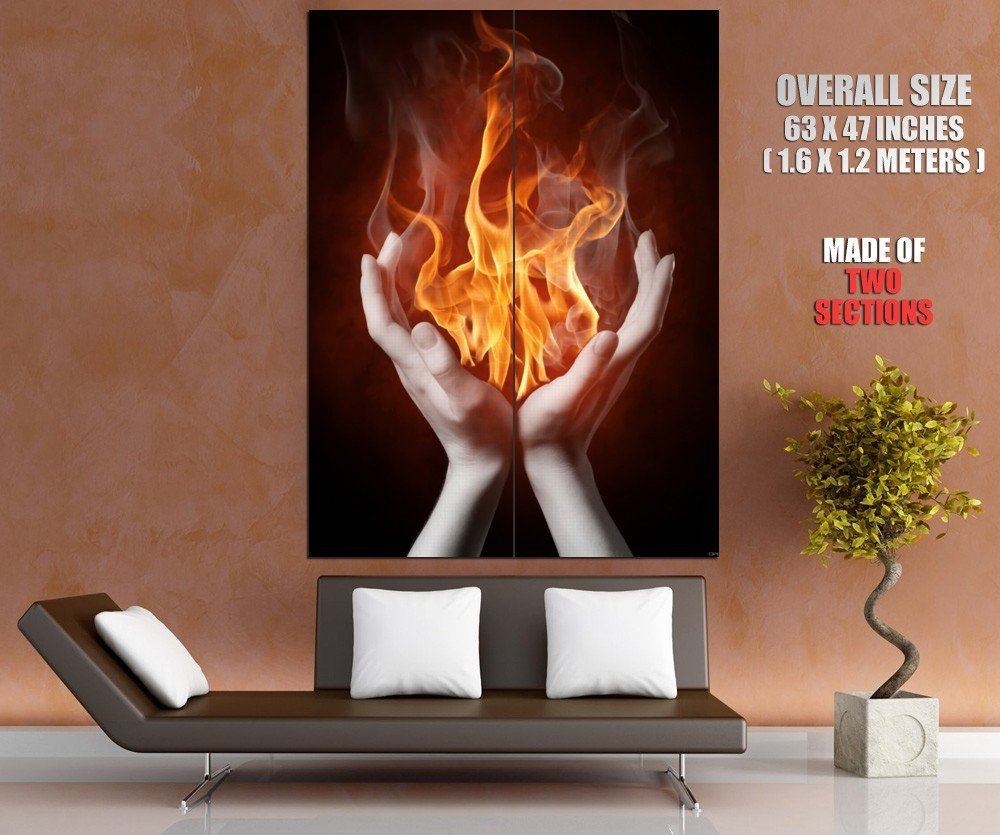 Passion Flame Fire Giant Huge Wall Print Poster