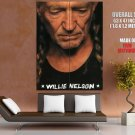 Willie Nelson American Country Music Singer Giant Huge Wall Print Poster