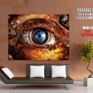 Steampunk Machinery Eye Giant Huge Print Poster