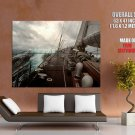 Sailboat Wood Deck Storm Giant Huge Print Poster