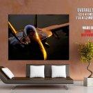 Bomber Pilot Sunset The McDonnell Douglas FA 18 Hornet Giant Huge Print Poster