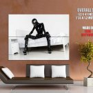 Sexy Girl Black Latex White Room Giant Huge Print Poster