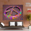 Psychedelic Peace Sign Art Giant Huge Print Poster