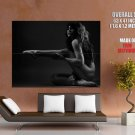 Black White Naked Body Figure Long Hair Erotic Shadow Giant Huge Print Poster