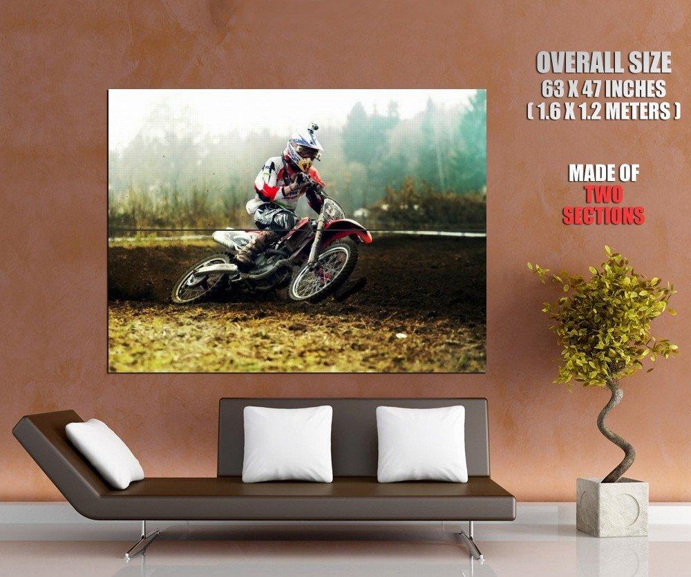 Motocross Racing Hot Bike Sand Sport Giant Huge Print Poster