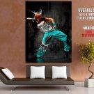 Break Dance Girl Water Queen Crown Giant Huge Print Poster