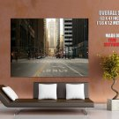 Chicago City USA Street Skyscrapers Home D Cor Giant Huge Print Poster