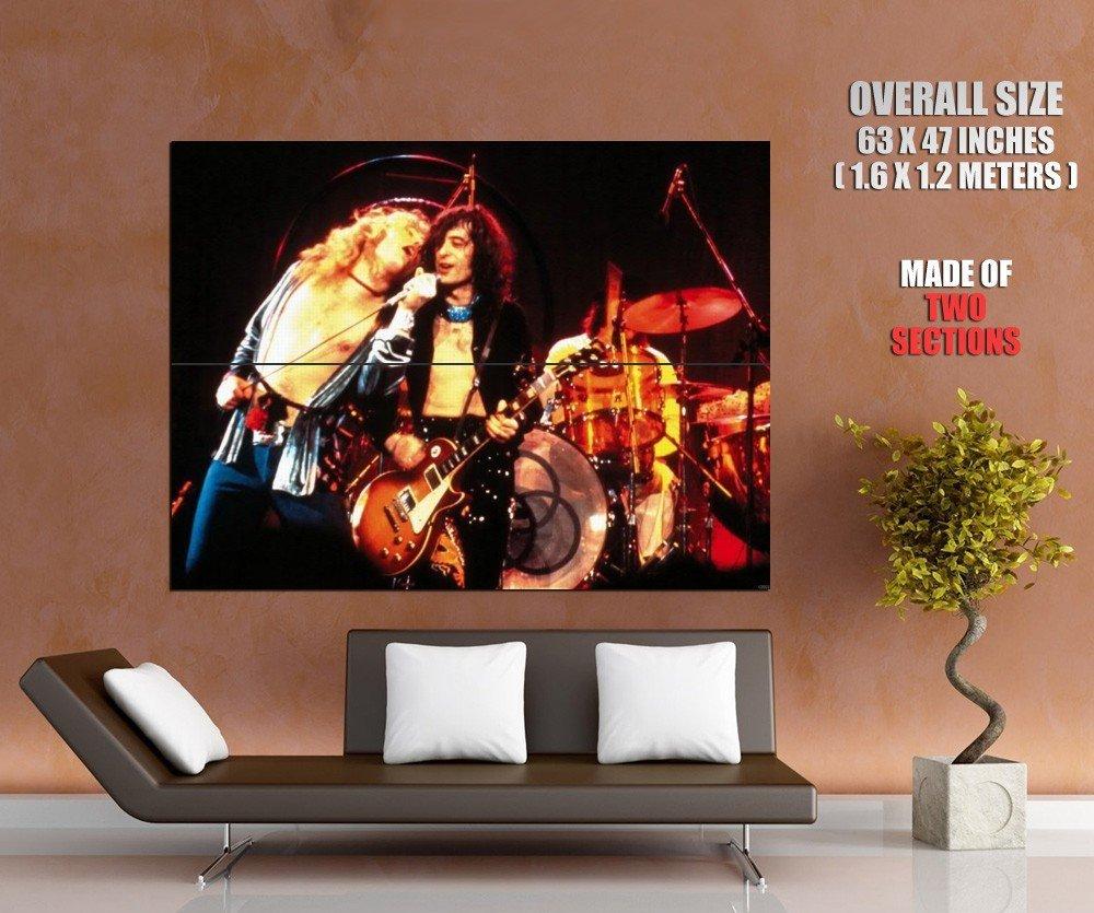 Led Zeppelin Rock Band Page Plant Singer Guitarist Giant Huge Print Poster