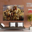 Indian Native American Horse Feathers Giant Huge Print Poster