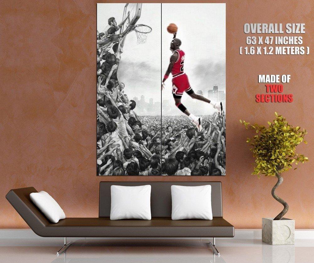 Basketball Legend Michael Jordan Fans Sport Giant Huge Print Poster
