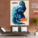 Godzilla Vintage Painting Art Giant Huge Print Poster