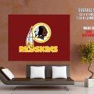 Washington Redskins Football Logo Hockey Art Giant Huge Print Poster