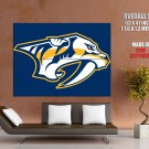 Nashville Predators Logo Hockey Sport Art Giant Huge Print Poster