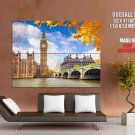 London Westminster Palace Big Ben Great Britain Giant Huge Print Poster