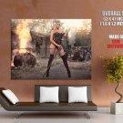 Leonie Hagmeyer Reyinger Fire Hot Rod Babe Car Giant Huge Print Poster