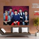One Direction Wax Figures Pop Boy Band Rare Giant Huge Print Poster
