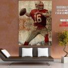 Joe Montana San Francisco 49ers Painting Football Giant Huge Print Poster