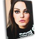 Mila Kunis Portrait Painting Actress 50x40 Framed Canvas Print