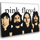 Pink Floyd Painting Rock Band Music 50x40 Framed Canvas Print