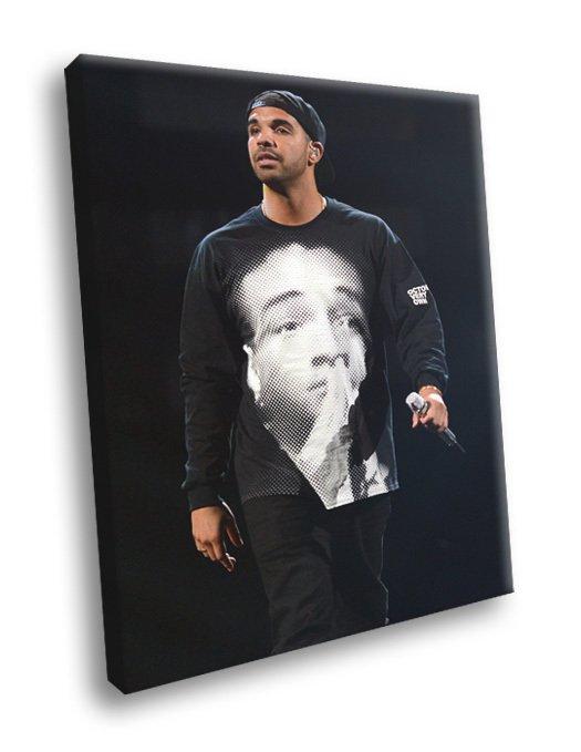 Drake Hip Hop Singer Rapper Music 50x40 Framed Canvas Print