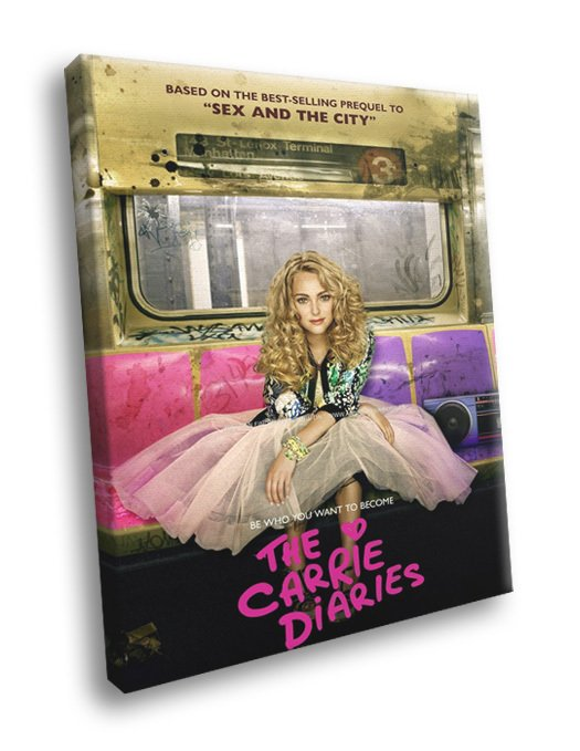 The Carrie Diaries TV Series 50x40 Framed Canvas Print