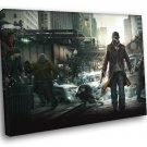 Watch Dogs Aiden Pearce Awesome Game Art 50x40 Framed Canvas Print