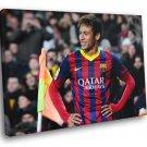 Neymar Da Silva Santos Smile Brazil FC Barcelona 50x40 Framed Canvas Print